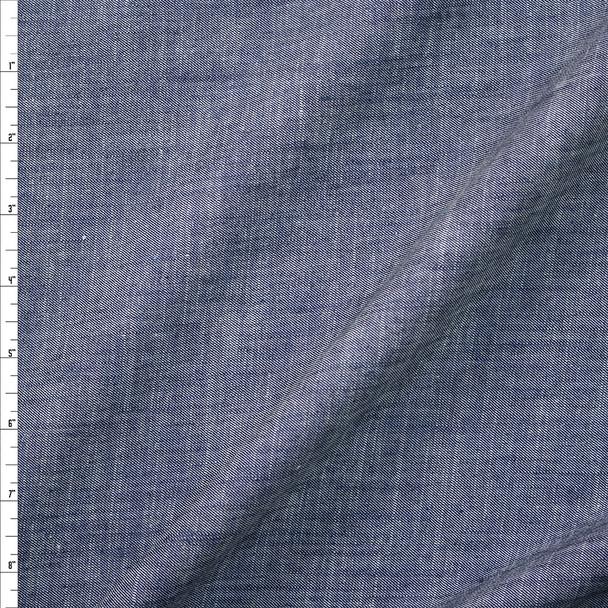 Designer Indigo Light Midweight Denim Fabric By The Yard