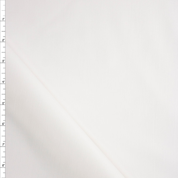 White Designer Stretch Cotton Sateen Fabric By The Yard