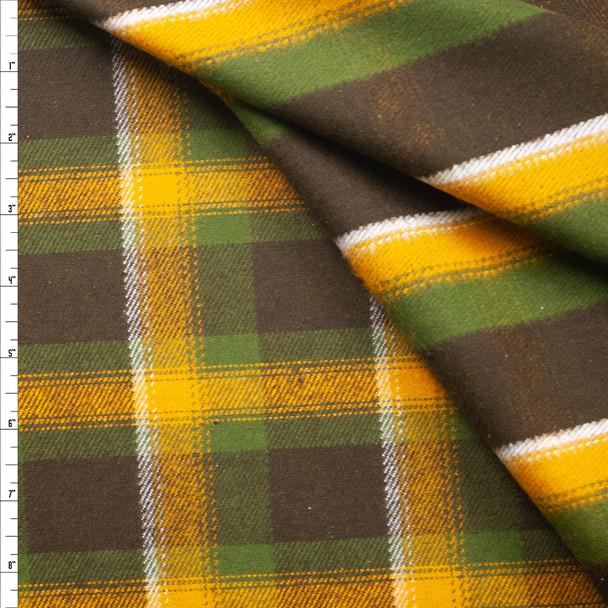 Durango Flannel Mustard Reversible Plaid by Robert Kaufman Fabric By The Yard
