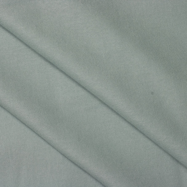 Light Aqua Brushed Wool Twill Fabric