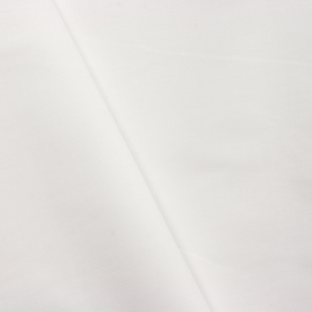 White Stretch Cotton Broadcloth Fabric