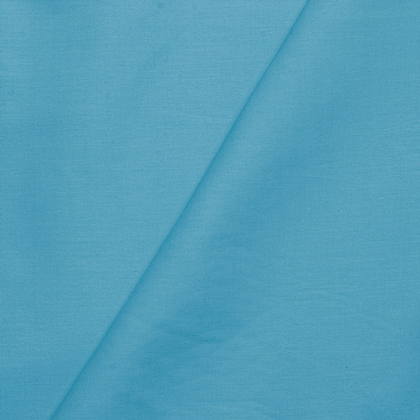 Light Turquoise Stretch Cotton Broadcloth Fabric