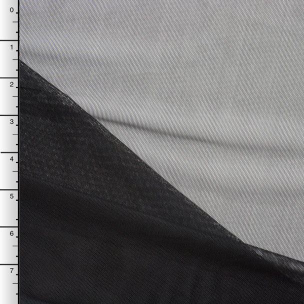 Black Power Mesh Stretch Fabric