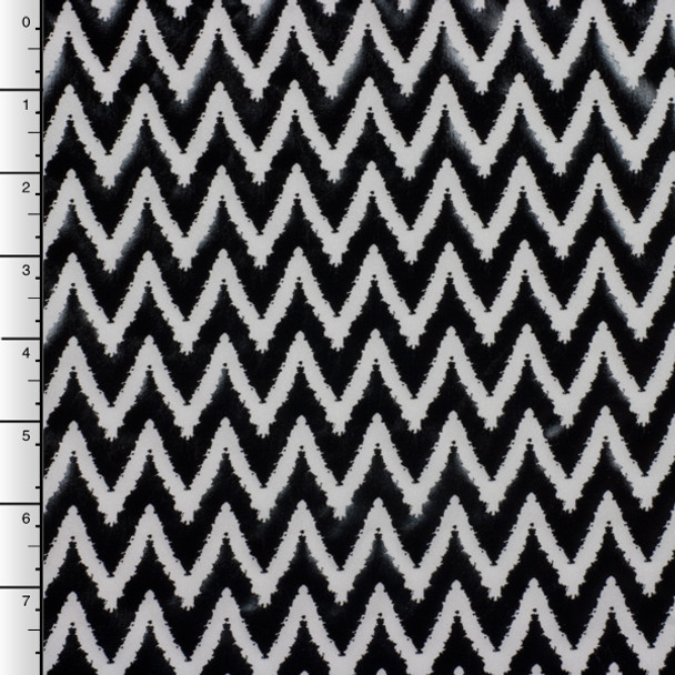 Black Chevron Lame on White Nylon/Lycra