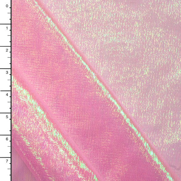Pink Iridescent Crinkle Organza