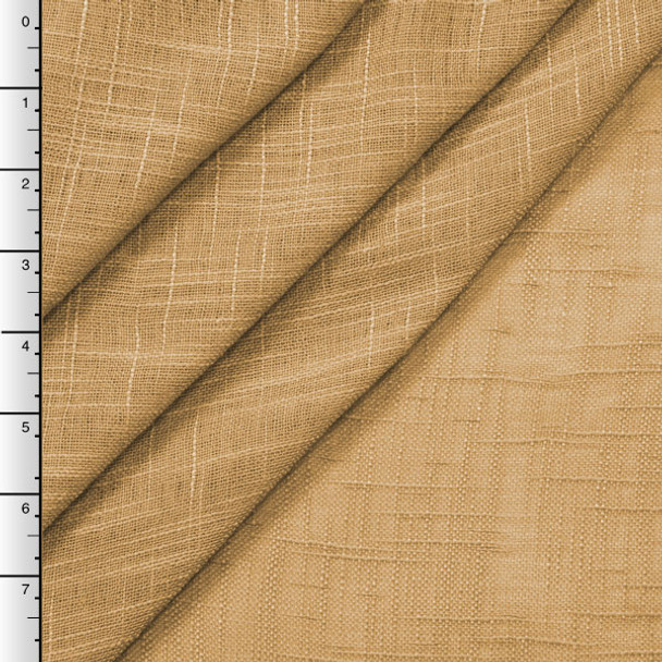 "90"" Wide Gold Sheer Linen Look"
