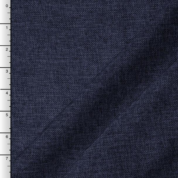 Navy Blue Vintage Linen Look