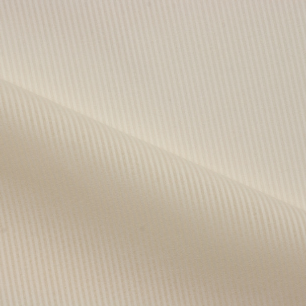 Ivory on Ivory Semi-Sheer Striped Cotton