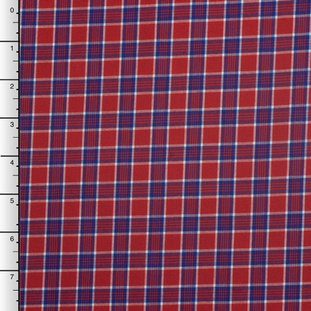 Red, White, and Blue Cotton Plaid by Robert Kaufman