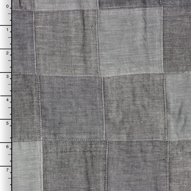Grey Chambray Patchwork by Robert Kaufman