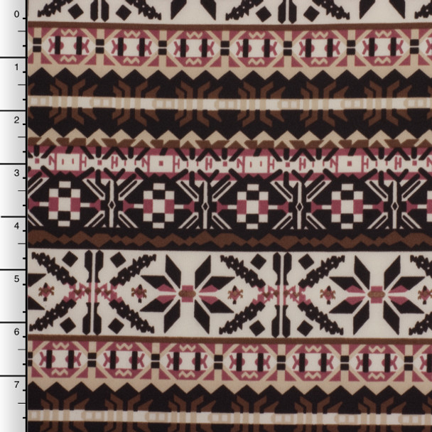 Brown, Tan, and Mauve Winter Tribal Techno Knit