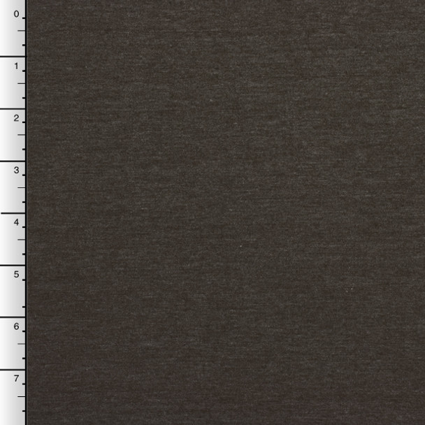Medium Brown Heather Lightweight Stretch Jersey