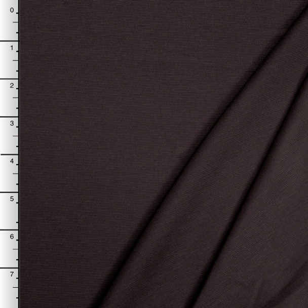 Brown Midweight Stretch Ponte De Roma Solid