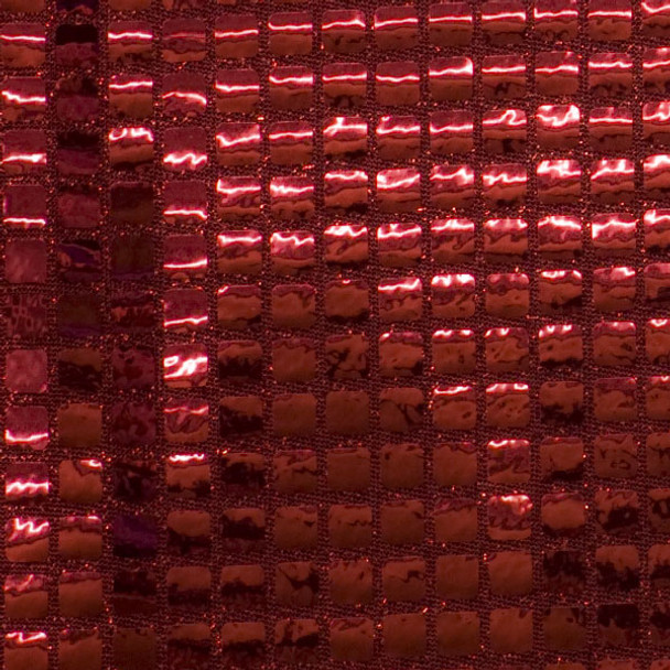 Red Square Sequin Fabric
