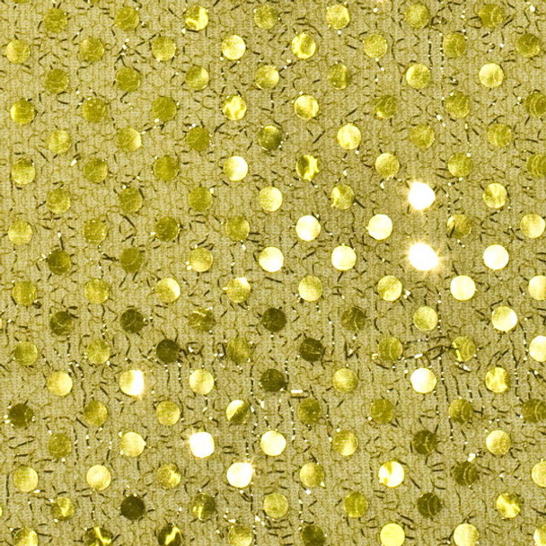 Light Gold Mini Sequin Fabric