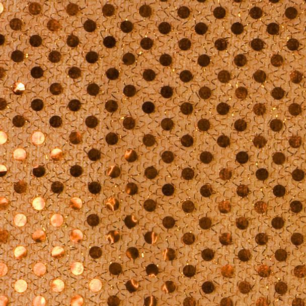 Copper Mini Sequin Fabric