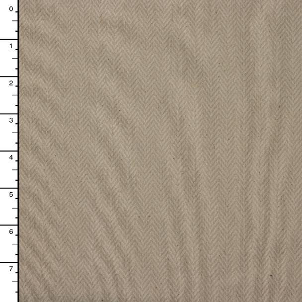 Oatmeal Herringbone Heavyweight Cotton Upholstery Fabric