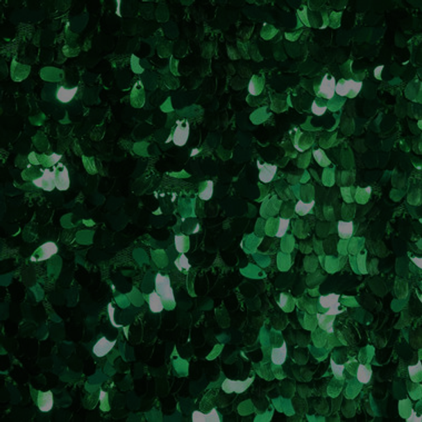 Emerald Green Dangle Sequin Fabric