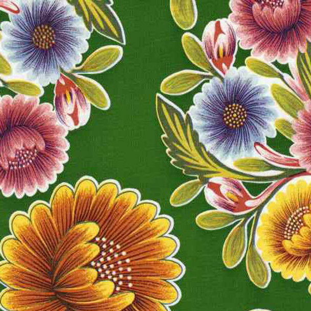 """""""Bloom"""" Green Oilcloth"""