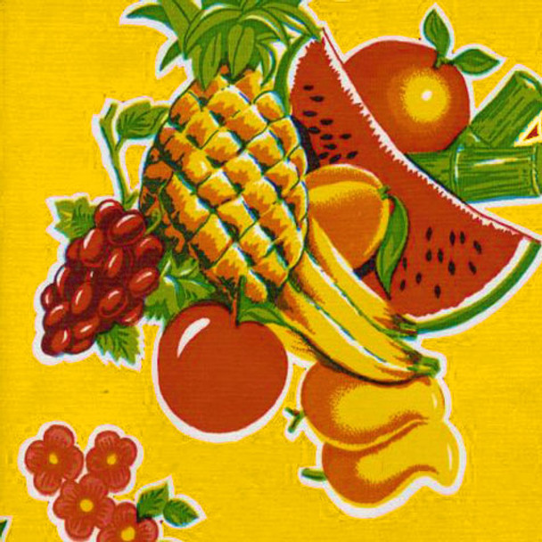"""""""Cane"""" Yellow Oilcloth"""