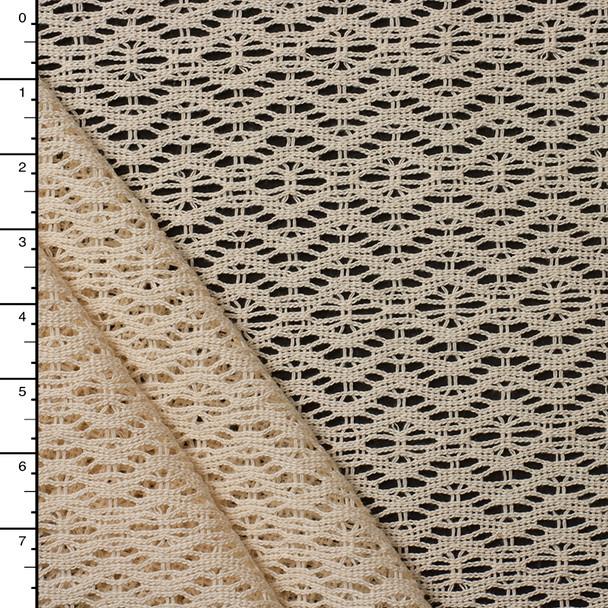 Ivory Cotton Crochet Lace