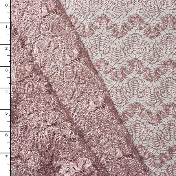 Blush Scallop Patterned Lace