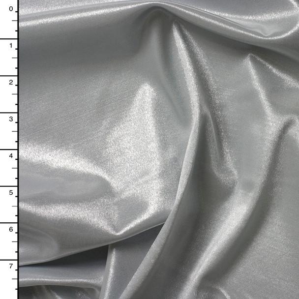 Silver 'Wet Look' Shiny 4-way Stretch Nylon/Lycra