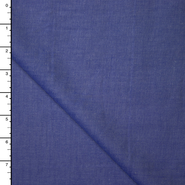Medium Blue Lighweight Cotton Chambray Shirting