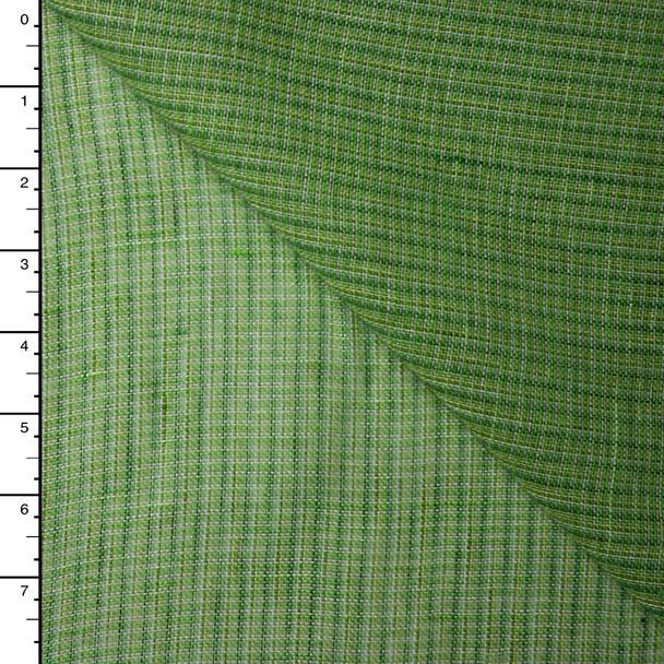 Green Plaid Lightweight Linen