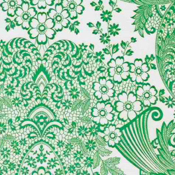 """Paradise Lace"" Green Oilcloth"