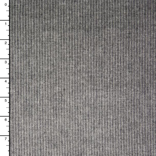 Grey Pinstripe Heavy Stretch Denim