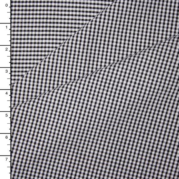 Black and White Micro Ginham Plaid Seersucker