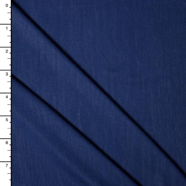 Navy Blue Bamboo Stretch Jersey Knit Fabric