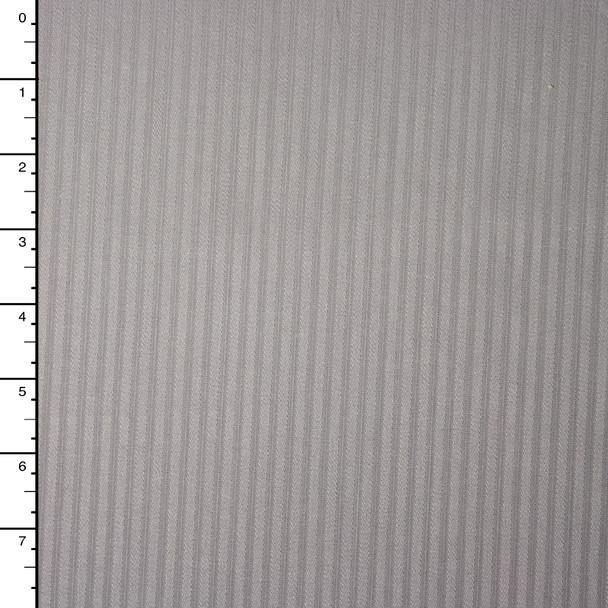Grey on Grey Striped Stretch Twill