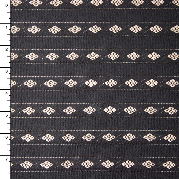 Diamond Stripe Fine Brushed Wool/Viscose/Silk Suiting