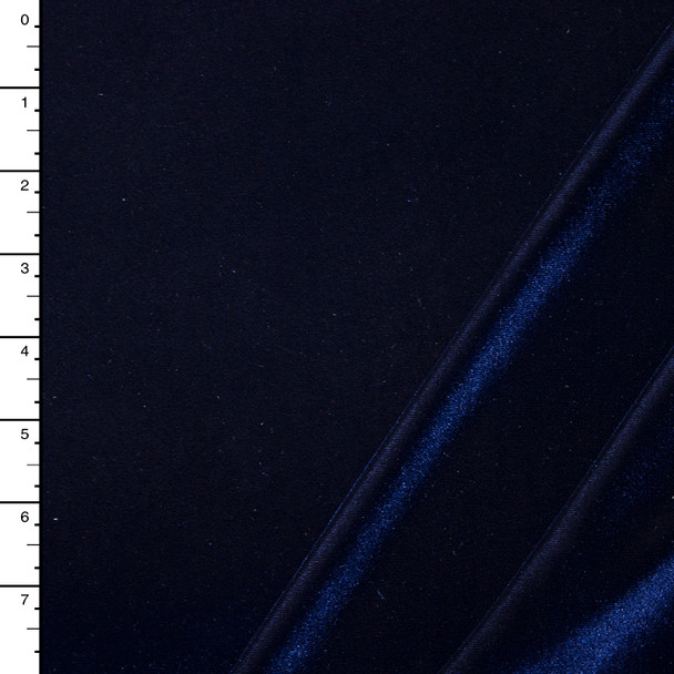 Navy Blue 4-way Stretch Velvet By The Yard