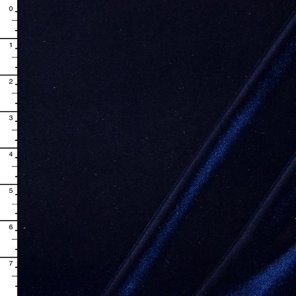 Navy Blue 4-way Stretch Velvet By The Yard