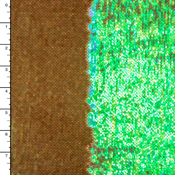 Rich Matte/Iridescent Gold Reversible Two Tone Sequin Fabric