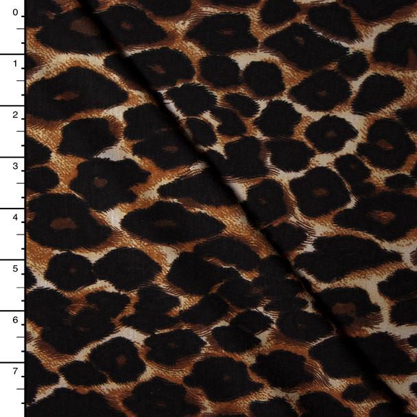 Leopard Print Stretch Rayon Jersey
