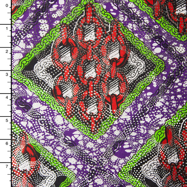 Metallic African Print Cotton #16254