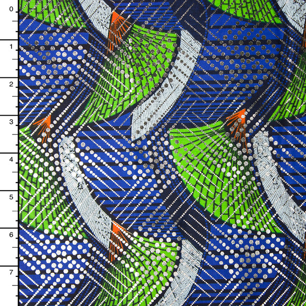 Metallic African Print Cotton #16250