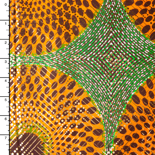 Metallic African Print Cotton #16265