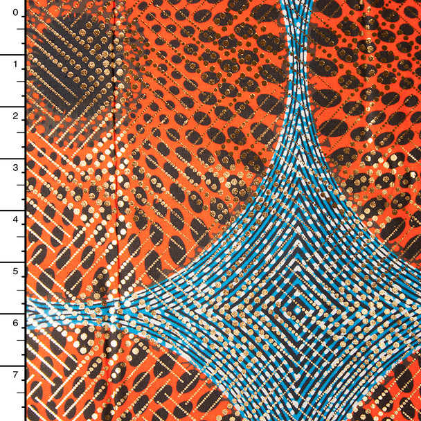 Metallic African Print Cotton #16262