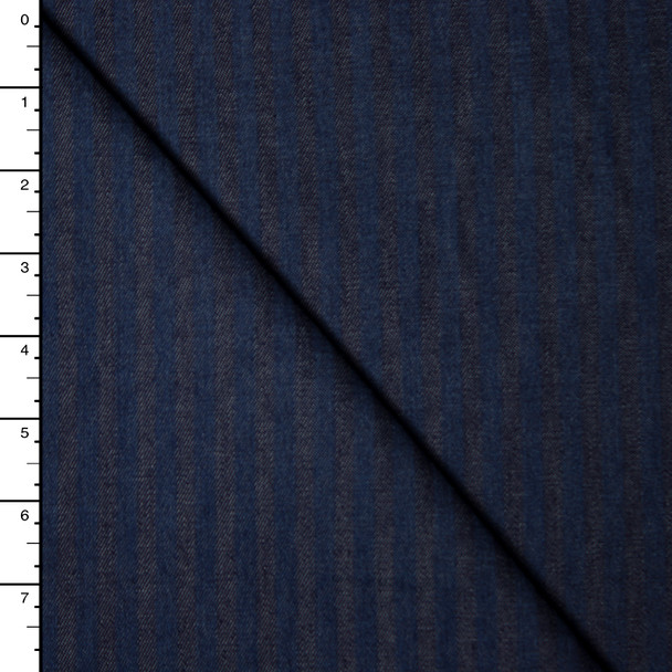 Blue on Blue Stripe 5.4oz Lightweight Denim