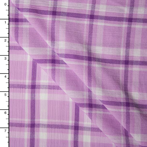 Lavender Plaid Cotton Gauze