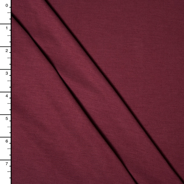 Wine Modal Jersey Knit