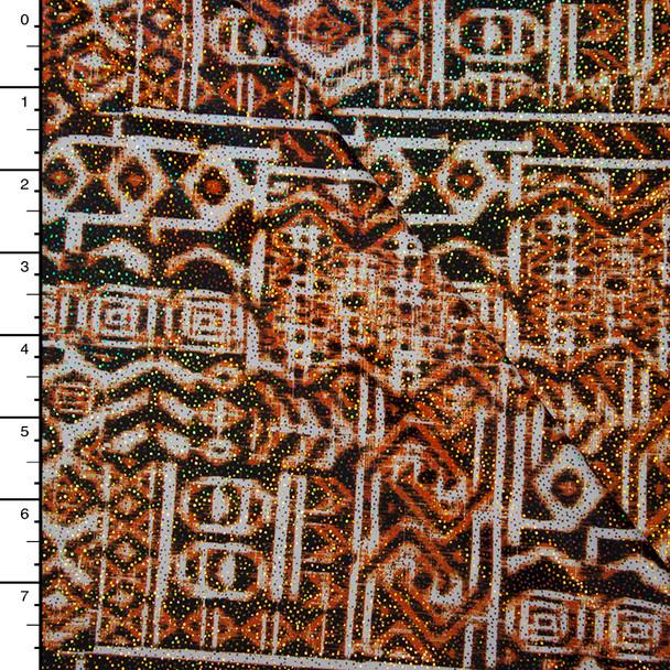 Iridescent Sparkling Tribal Pattern Nylon/Lycra