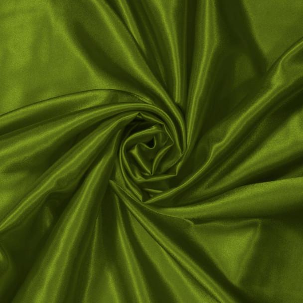 Dark Avocado Green Charmeuse Satin