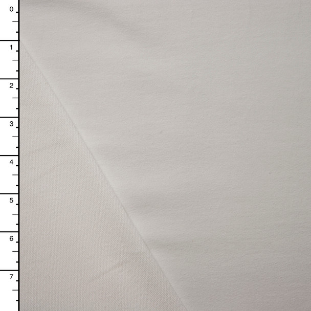 White Midweight Stretch French Terry