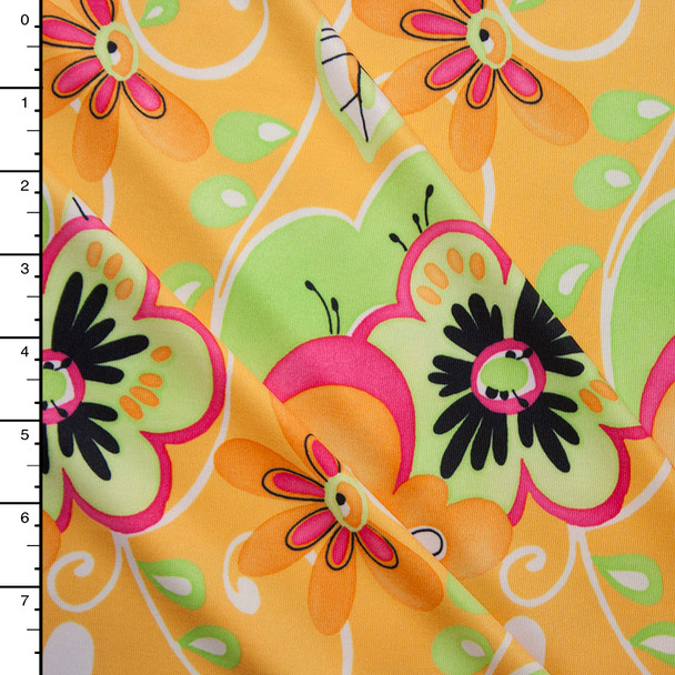 Lime and Yellow Fun Floral Print Nylon/LycraLime and Yellow Fun Floral Print Nylon/Lycra
